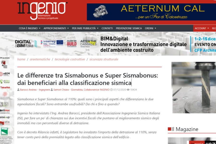 Ingenio – Le differenze tra Sismabonus e Super Sismabonus