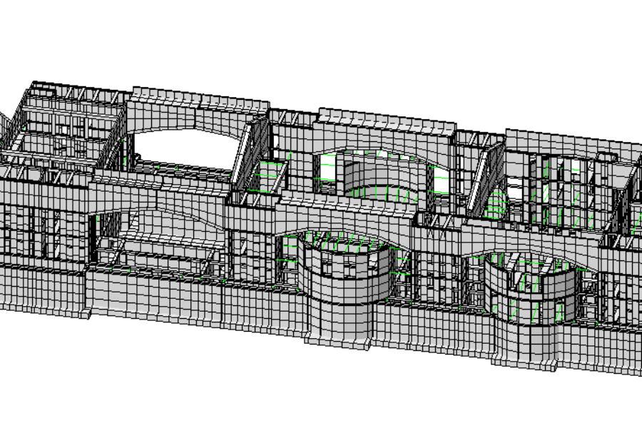 """2020 006 – Collaborazione specialistica per la verifica delle sollecitazioni strutturali indotte dai cedimenti in essere sul complesso edificato """"Centro Civico Brione"""" – Rovereto (TN)"""