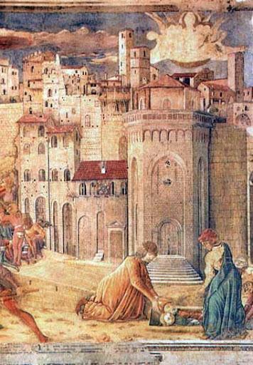 Totila ed il chierico traditore - Benedetto Bonfigli